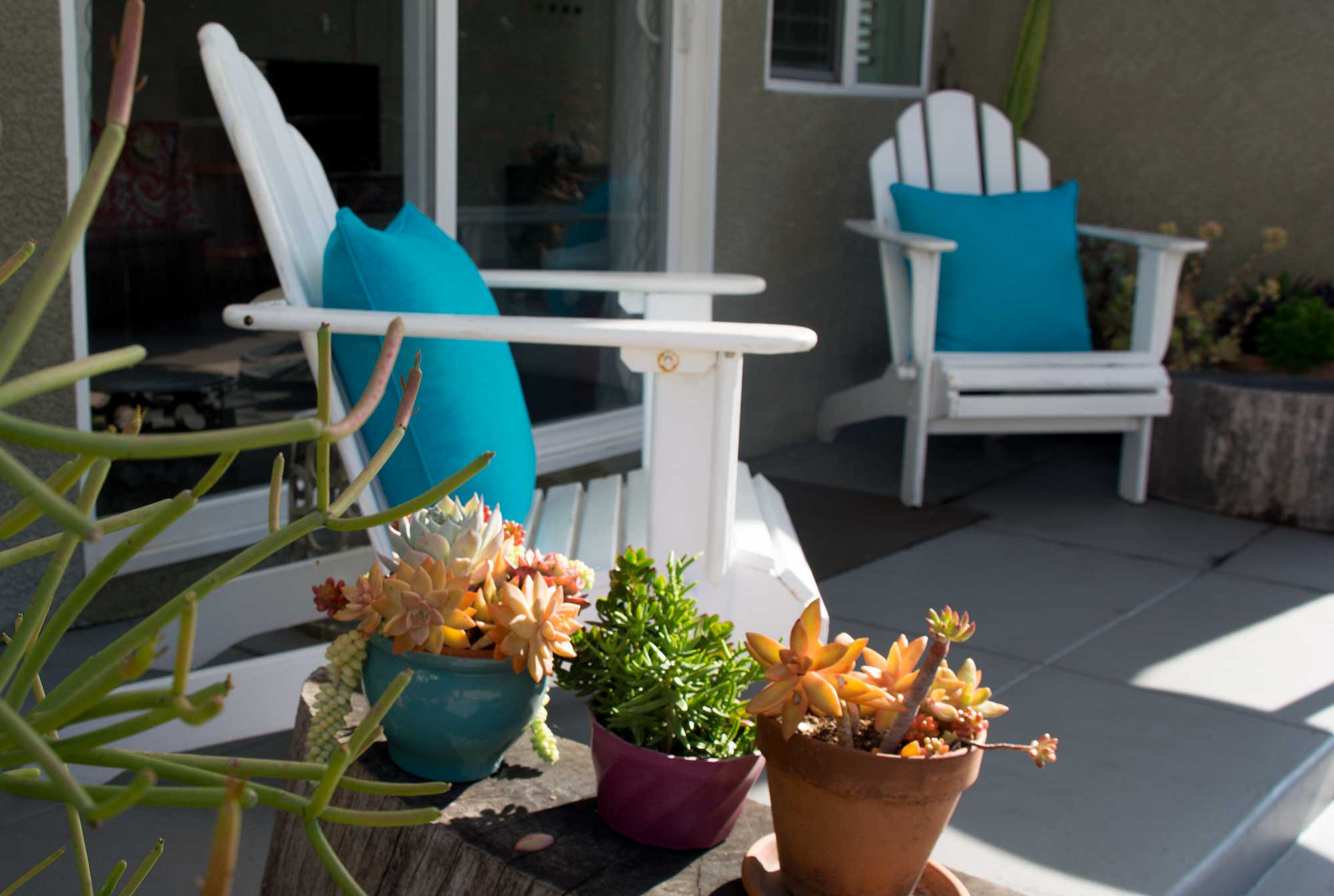 A big backyard and cozy patio provides a comfortable space for outside vision improvement activities, for kids and grown ups alike.